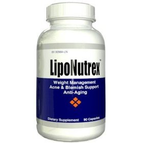 Liponutrex - 90 capsules amazing fat burner diet pill, acne & anti-aging anti-wrinkle pill in one lipo nutrex