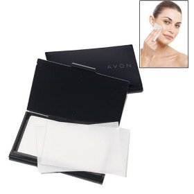Avon blot away oil absorbing blotting sheets 50 count free travel case oily skin