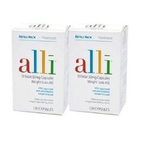 Alli- orlistat weightloss aid formula, 240ct refill pack
