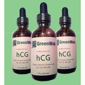 Green web hcg drops for dr simeons quick weight loss diet, homeopathic 2 fl oz 60ml, 35-40 day supply, plus free diet ebooklets pounds and inches