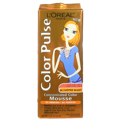 LOREAL Paris Color Pulse  Concentrated Color Mousse Non-Permanent (1 Application) 1.76oz/49.8g COPPER BLAST