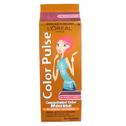 LOREAL Paris Color Pulse Funky Cherry Concentrated Color Mousse Non-Permanent (1 Application) 1.76oz/49.8g FUNKY CHERRY