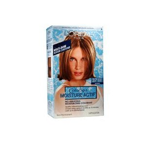 Loreal colorspa moisture actif hair color - #37 (light golden brown) - 1 ea