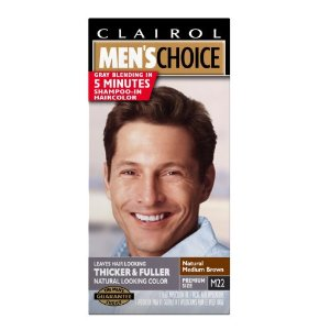 Clairol men's choice color, m22 natural medium brown (pack of 3)