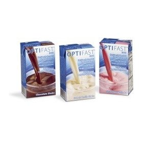 Optifast 800 strawberry ready to drink shake 1 case (27 cartons)