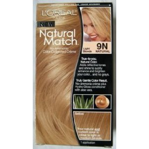 L'oreal natural match hair color, 9n natural light blonde