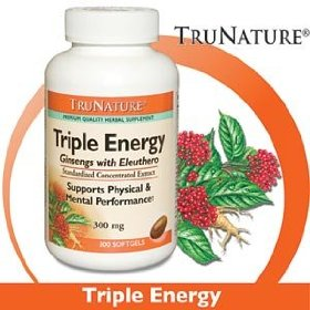 Trunature triple energy ginsengs with eleuthero 300 mg - 300 softgels
