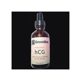 Homeopathic oral hcg drops - weight loss diet - dr simeons - 2 oz green web bottle