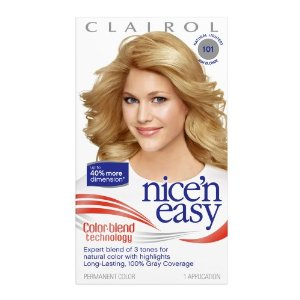 Clairol nice 'n easy color, 101 natural lightest ash blonde (pack of 3)