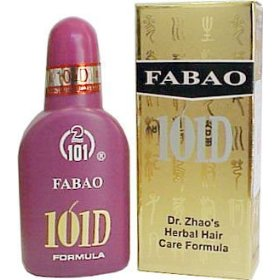 Hair loss treatment, fabao 101d, 100 ml, 5 bottles