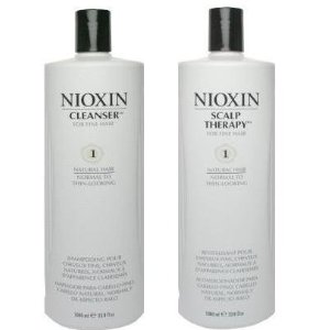 Nioxin system 1 scalp therapy and cleanser liter duo set (33.8 oz)