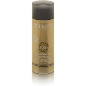 Redken all soft gold glimmer perfecting shine treatment for dry/brittle hair