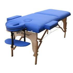 Bestmassage blue 2 fold massage table with free carry case