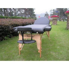 77 long 3 pad black portable reiki massage table with free adjustable head rest and carry case